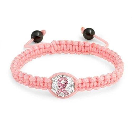 Bling Jewelry Brustkrebs Pink Ribbon Crystal Shamballa inspiriert Armband  12mm 3885847fbf191