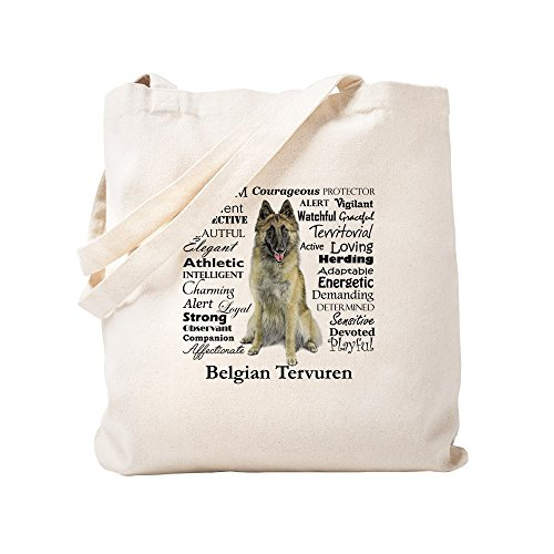 CafePress - Belgian Tervuren Traits - Natural Canvas Tote Bag, Cloth Shopping Bag
