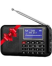 Raddy RF28 Radio Portatili Auto Scansione & Salvataggio Radio FM, Display a LED, Batteria Ricaricabile