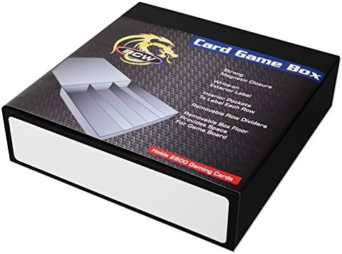 3 Row Black with White Game Card Box