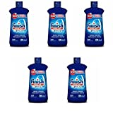Finish Jet-Dry Rinse Aid, 16oz, Dishwasher Rinse Agent & Drying Agent, 5 pack