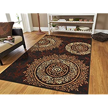 Large Contemporary Area Rugs 8x11 Modern Living Room Rugs 8x10 Black Brown  Beige Cream Floral Rugs Part 58