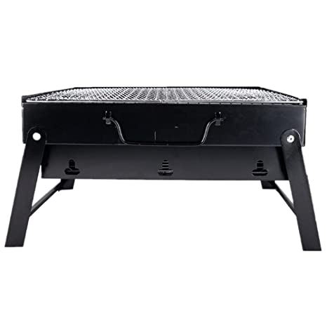 JMAHM Barbacoa plegable carro Outdoor mesa barbacoas portátil barbacoa parrilla plegable para jardín camping Party Barbecue