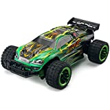 JJR/C Off-Road Rock Vehicle, Q36 RC Cars 1:26 2.4G All Terrain Dune Buggy Remote Control Resistance Strong Power Output Speed Off-road High-speed Car(Green)