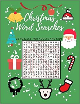 christmas word searches 25 puzzles for adults and kids easy word find puzzles word games holiday fun themes christmas book gretchen polakowski - Christmas Word Search Games