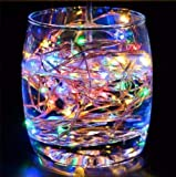 FRIDEKO 30 LED 3M/10FT Micro Silver Wire Battery Operated LED Fairy String Lights Indoor for Bedroom Wedding Party Birthday Christamas Decor (Multi-Colours)...