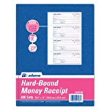 2 Part Carbon Hardbound Receipt Book (Set of 5) [Set of 5]