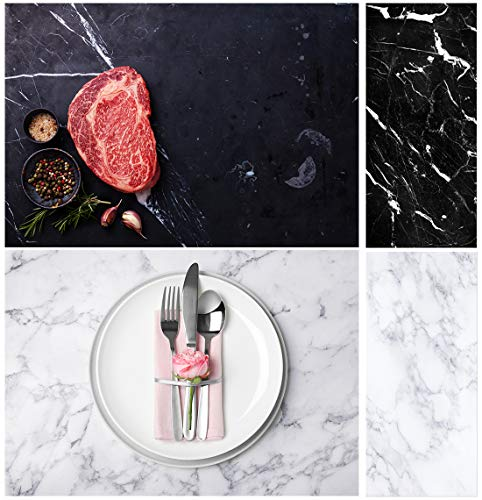 Allenjoy 34.4x15.7in Double Sided Marble Photography Background 2 in 1 Texture Pattern Waterproof Paper Tabletop Backdrop Food Jewelry Cosmetics Makeup Small Product Props Professional Photo Studio (Background Photography Paper)