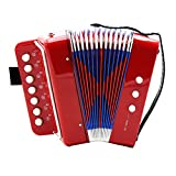 Homyl Kids Piano Accordion 7 Keys 2 Bass Musical Instrument Toy for Early Learning Education