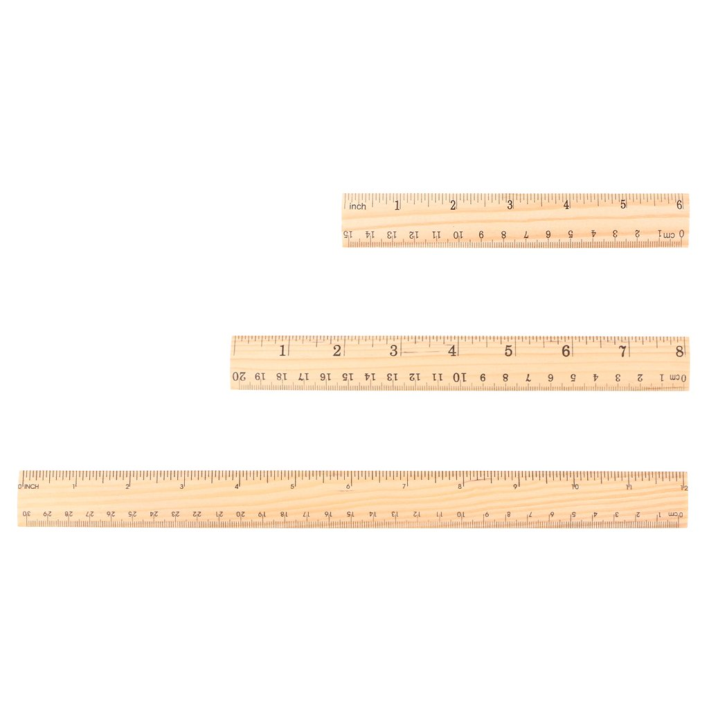 Double Sided Student School Office Measuring Tool Nysunshine 15cm 20cm 30cm Wooden Ruler
