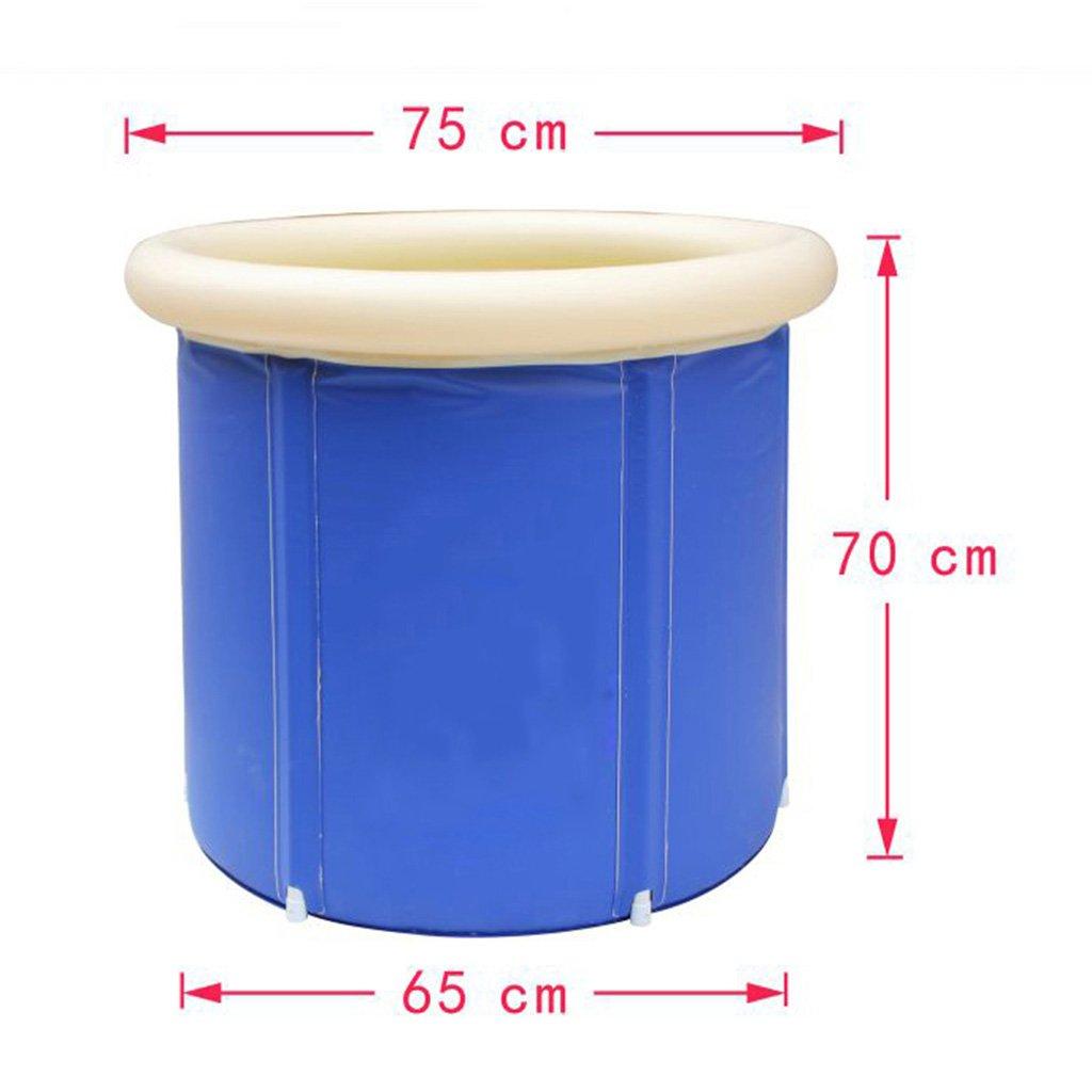 QRFDIAN Aufblasbare Badewanne Dicke Isolierung Umweltschutz Kunststoff Falten einfach Haushalt Erwachsene Badezimmer Badewanne Badewanne Badewanne (größe   75  70  65 cm)