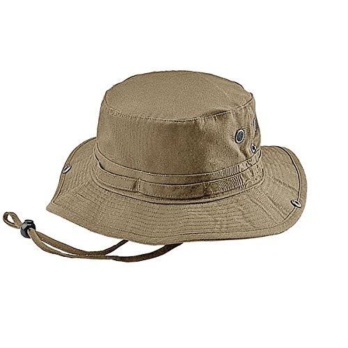 (Mega Cap Camouflage Twill Washed Hunting Hat (X-Large, Khaki) )