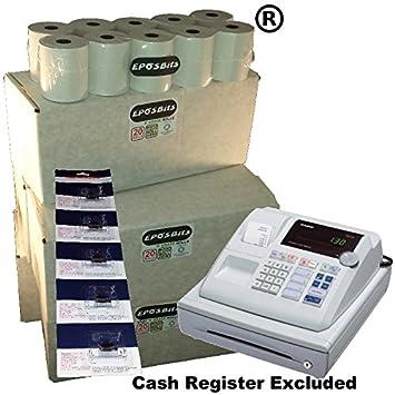 eposbits® marca 100 rollos + 5 x de tinta para Casio 130 CR 130 CR ...