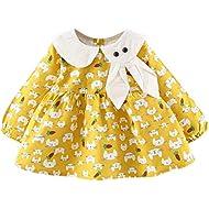 Sameno Junior Baby Girl Clothes - Cute Cartoon Tutu Skirt Dress Comfy Cotton Overall for Newborn Kids Toddler 3-24 Months