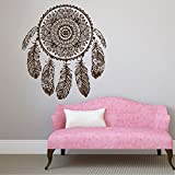 Peel And Stick Wallpaper Dream Catcher Decals Feather Stickers Classical Wall Decals for Bedroom Nursery Living Room Beauty Design