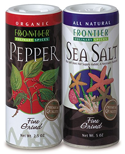Frontier Salt and Pepper Combo Pack, 9.5 Ounce, (Pack of 6) by Frontier