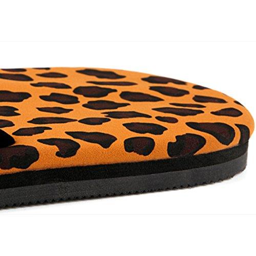 sandals plat Chaussons HYLR tongs Casual 1 Simple Leopard flip flop et dame sandales de de plage flip été Mules japonais flops occasionnels style sabots qqaBExwt