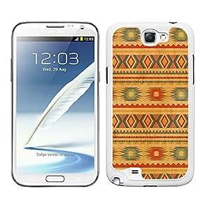 Funda carcasa para Samsung Galaxy Note 2 diseño estampado indio colores pastel borde blanco