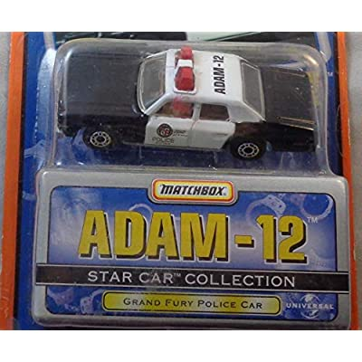 1999 Matchbox Star Car Collection Adam - 12 Grand Fury Police Car White/Black: Toys & Games
