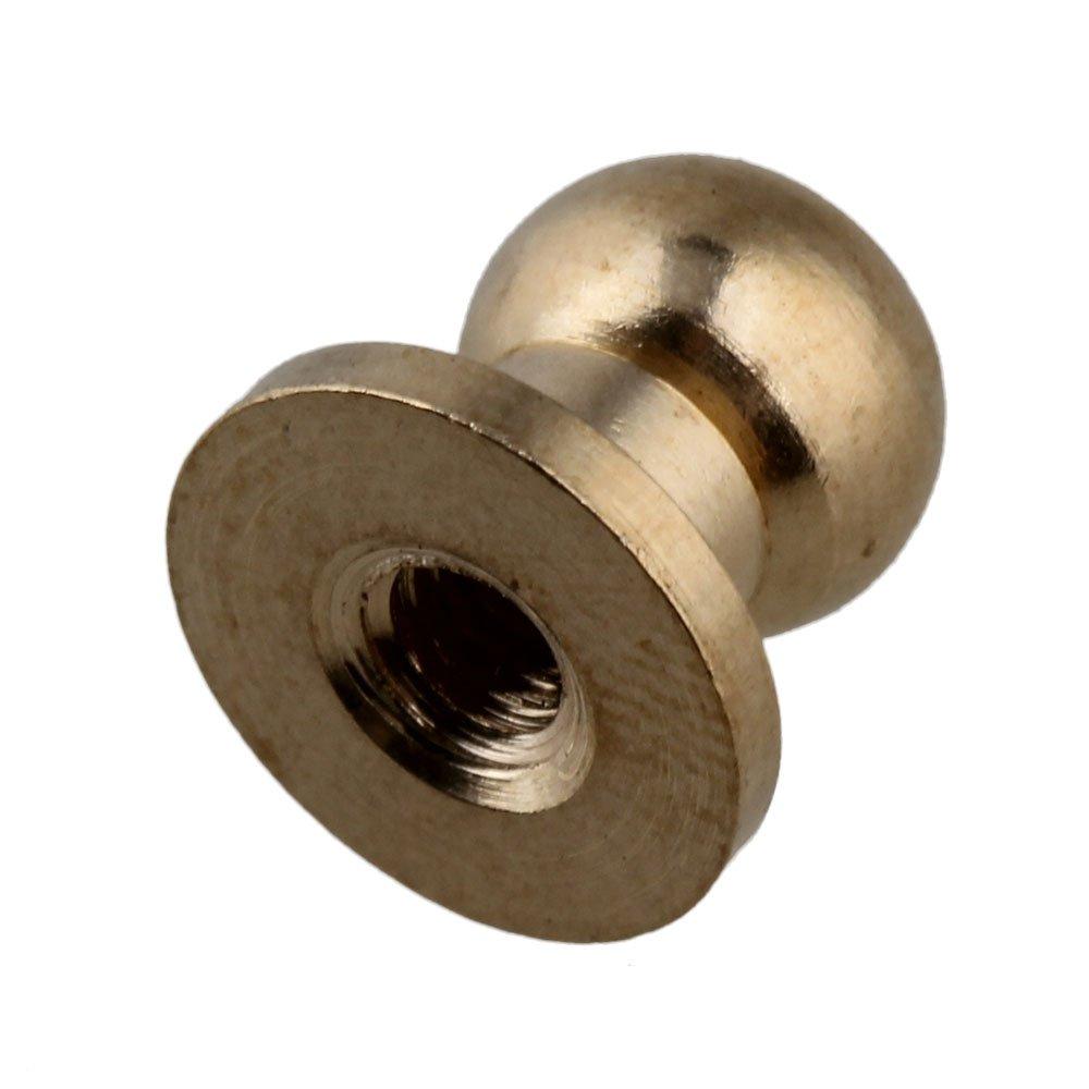 BQLZR BQLZRN00285 /À visser Dor/é En laiton Lot de 10 rivets pour le cuir