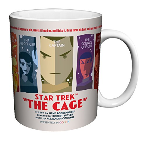 Star Trek The Cage Pilot Episode (Juan Ortiz Art) Sci-Fi TV Television Show Porcelain Boxed Gift Coffee (Tea, Cocoa) 11 Oz. Mug (Tea Star Trek)