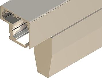 Vidrio-Herraje de puerta corredera Capri, para los lados 60 mm X 20 mm, especial para puerta de ancho 744 - 843 mm, 10 mm de grosor: Amazon.es: Bricolaje y herramientas