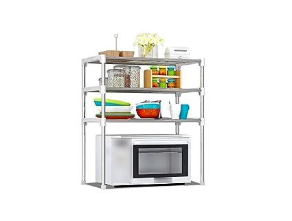 Bastidores de cocina, pulverización Antioxidante horno de microondas cocina cuarto de baño estante de almacenamiento