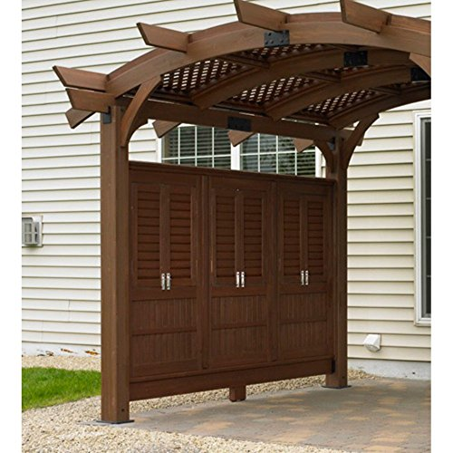 Outdoor GreatRoom Privacy Wall for Sonoma Arched Pergola -  SONOMA12-R-WALL