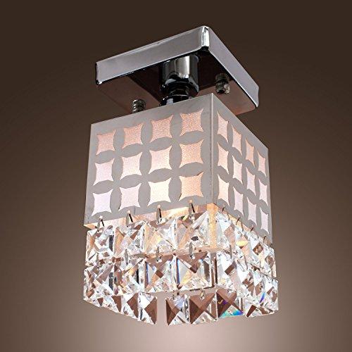 LightInTheBox 1 - Light Crystal Ceiling Light in Cubic Shade Modern Home Ceiling Light Fixture Flush Mount, Pendant Light Chandeliers Lighting, Voltage=110-120V