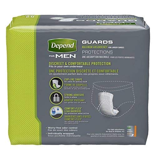 Depend Guards for Men, Case/208 (4/52s)