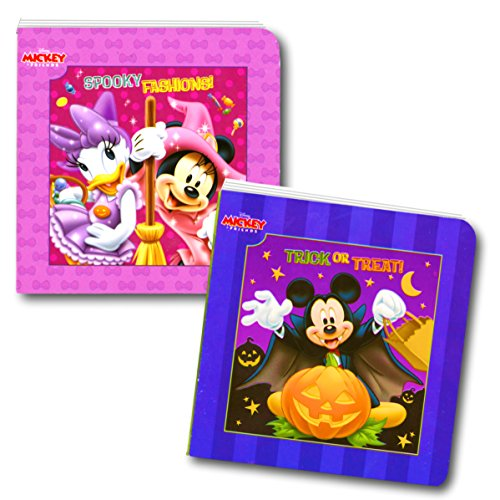 Disney Mickey Mouse and Minnie Mouse Halloween Board Book Set For Kids Toddlers (Set of 2 Small Board (Minnie And Mickey Halloween)