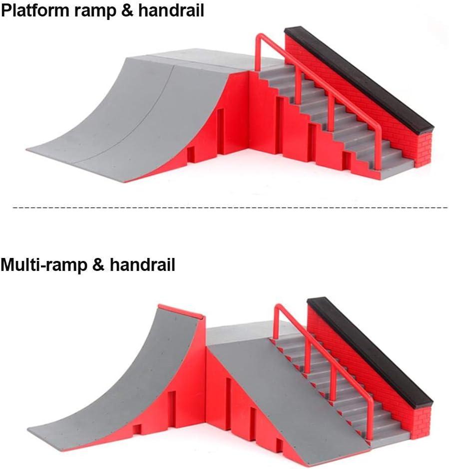 Ramp Parts Mini Finger Skateboard Parks avec 1 Finger Skateboard pour Les Accessoires De Formation Finger Skateboard 4 Choix Cokeymove Fingerboard Skate Park Kit