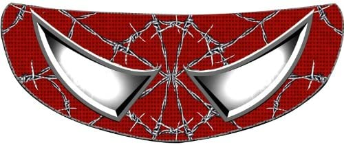 Black SkullSkins Wired Web SK Motorcycle Shield Skin