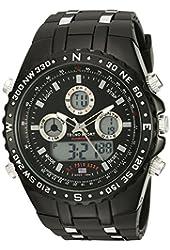 U.S. Polo Assn. Sport Men's US9500 Analog/Digital Display Black Watch