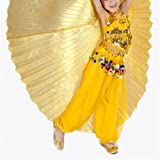 BellyLady Kids Belly Dance Costume Egyptian Isis Wings - Gold