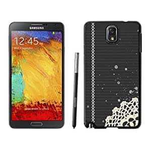 NEW Unique Custom Designed Samsung Galaxy Note 3 N900A N900V N900P N900T Phone Case With Notebook White 3D Lace Print_Black Phone Case