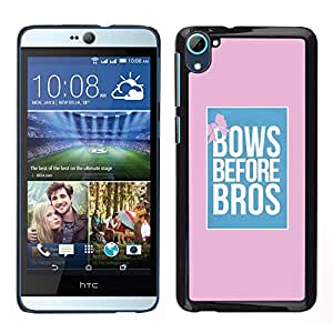 [Neutron-Star] Snap-on Series Teléfono Carcasa Funda Case Caso para HTC Desire D826 [Bows Before Bros Pink Blue Poster Pink]