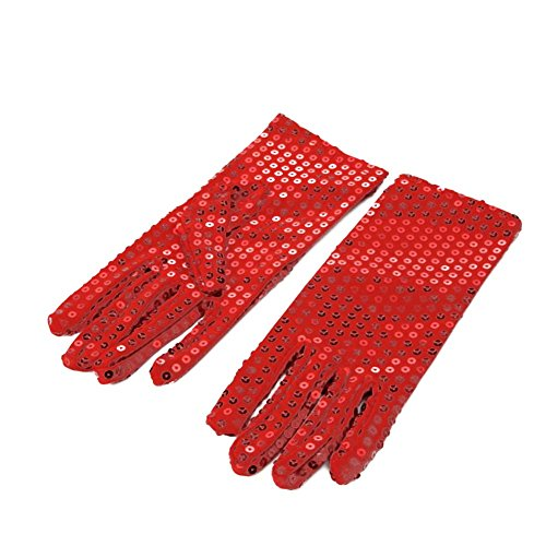 1 Pair Michael Jackson Costume Dress up Dance Sequin Gloves for Cosplay Party Dance Halloween