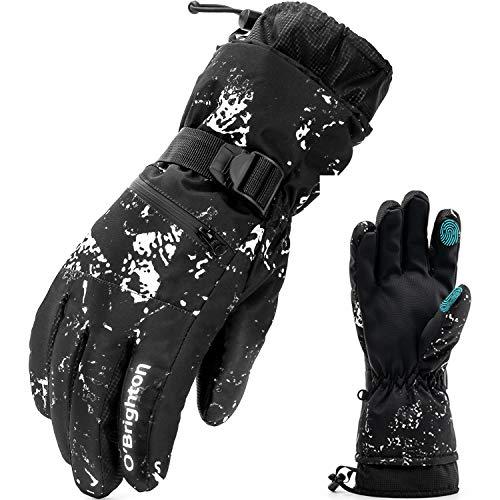O'Brighton Ski Gloves for Men Women (XL)