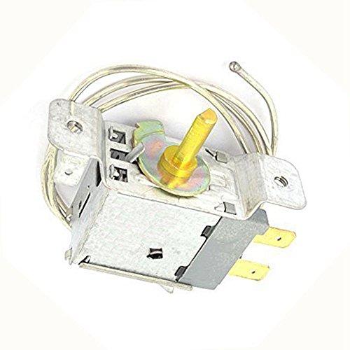 RETYLY Thermostat de regulateur de Temperature a 2 Broches avec Cable de la longuer de 66 cm pour Les refrigerateurs