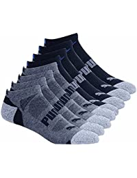 Mens No show Sport Socks, Moisture Control, Arch Support (8 Pair) (Regular Shoe Size: 6-12, Black)