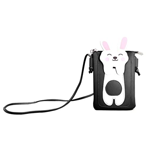 Backpacks Women Wallet Purse Rabbit Cell Phone Case Mobile Bag Pouch Mini Shoulder Bag Bunny Mobile Phone Coin Purse Dating Mini Backpacks