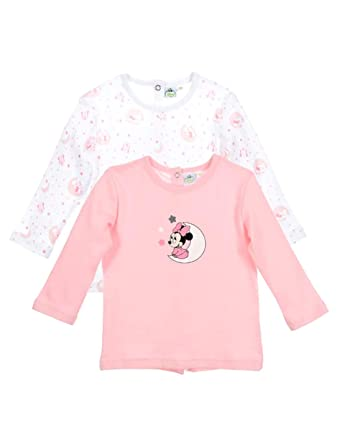 Minnie Lot de 2 T-Shirts Manches Longues bébé Fille Rose et Violet de 1 à  9mois  Amazon.fr  Vêtements et accessoires 742a1b4a17b