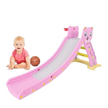 Mhxzkhl Children's Folding Slide,Kids Plastic Toys Basketball Indoor