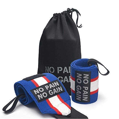 18 Inch Wrist Wraps Wrist for Women& Men Fit Support Prevent Injury for Weightlifting, Strength Training, Bodybuilding, Cross-training Captain America (Wrap Wrist Sports Captain Elastic)