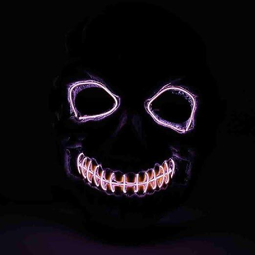 OLUYNG Máscara de Halloween Luz LED Máscaras Divertidas El año de ...