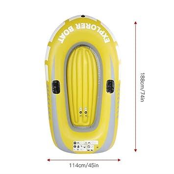 SMEI Niños Niños Inflables Kayak Canoa Remo Barco De Doble ...