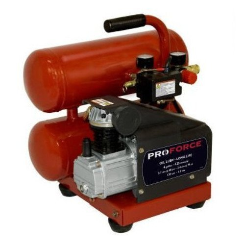 Pro-Force VSF1080421 4-Gallon Oil Lube Air Compressor with Extra Value Kit
