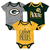 NFL by Outerstuff NFL Green Bay Packers Newborn & Infant Little Tailgater Short Sleeve Bodysuit Set Hunter Green, 18 Months