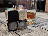 Charred Whiskey Stones Made from Recycled Bourbon Barrels